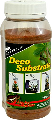 Lucky Reptile DS-01 Deco Substrate - Arena de Sastre (750 ml), Color Rojo