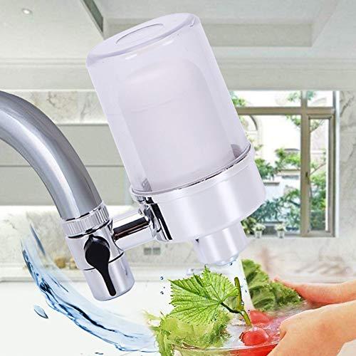 ExhilaraZ - Mini filtro de grifo reutilizable de cerámica para cocina, baño, agua potable