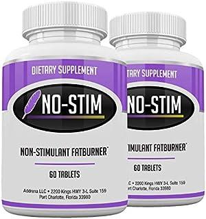 No-Stim 2 Pack- Non Stimulant Fat Burner Diet Pills That Work- No Stimulant Appetite Suppressant & Best Caffeine Free Weig...