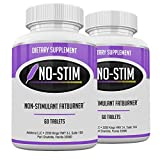 No-Stim 2 Pack- Non Stimulant Fat Burner Diet Pills That Work- No Stimulant Appetite Suppressant & Best Caffeine Free Weight Loss Supplement for Women & Men- Natural Thermogenic Fat Loss Pill- 120 Tab