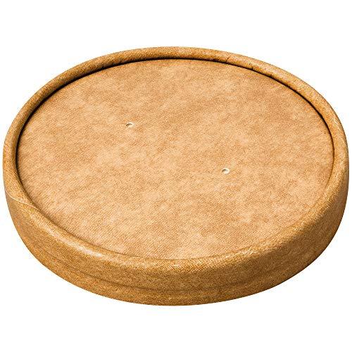 ColPac Compostable Soup Cup Lids 8-12oz - Pack Size = 1x500