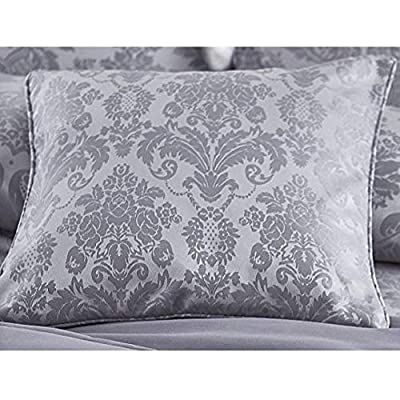 Damask Jacquard - Silver - Cushion Cover 43cm