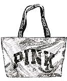 Victoria's Secret PINK Flip Sequin Bling Logo Tote Bag
