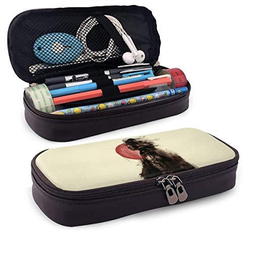 Estuche para lápices de cuero Darth Vader para adultos, niñas, niños, escuela, oficina, estuche para bolígrafos, estuche para estuches, papelería, maquillaje cosmético, doble cremallera, bolsa`9W