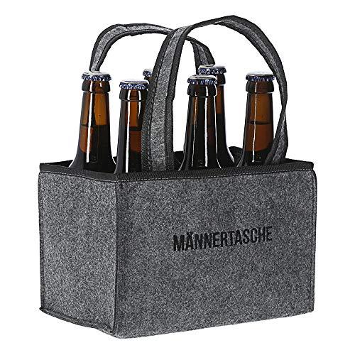 Cepewa Flaschenträger 6 Flaschen Bier Bierträger Flaschenträger Sixpack Männertasche