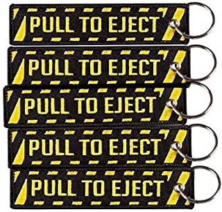 Pull To Eject Keychain | Cruise Luggage Tag for Women Men | Multipurpose Keychain | Traveler Pilot Cabin Crew Baggage Tag (Pack of 5)