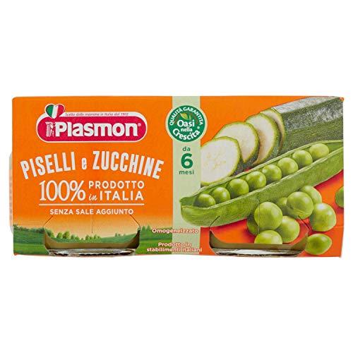Plasmon Omogeneizzato di Verdure di Piselli e Zucchine - 24 vasetti da 80 gr - Totale: 1.92 kg