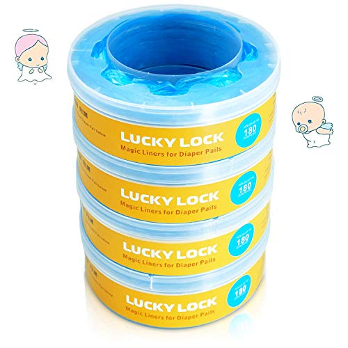 LUCKY LOCK Recambio Compatible con Sangenic Tommee Tippee Twist & Click y Sangenic Tec (4 Paquetes)