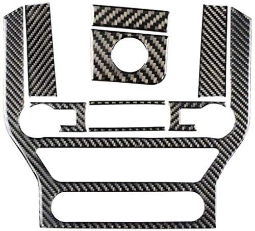 YNWW Kohlefaser Auto Klimaanlage Klimagerät Panel Dekorative Cd Panel Abdeckung Trim Passend Für Ford Mustang 2015-2019,Carbon Fiber,Carbon Fiber,Carbon Fiber