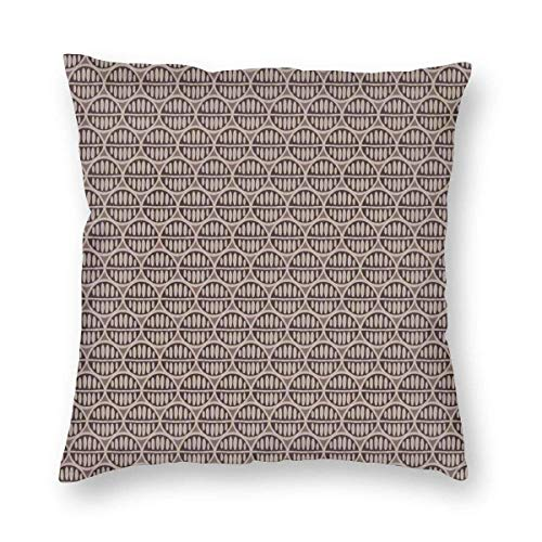 Pillow Covers Native African Clannish Pattern of Coffee Bean Inspired Leaf Motifs Decorative Throw Pillow Case Cushion Cover Home Décor Sofa Decorative Pillow 18 x 18 inch
