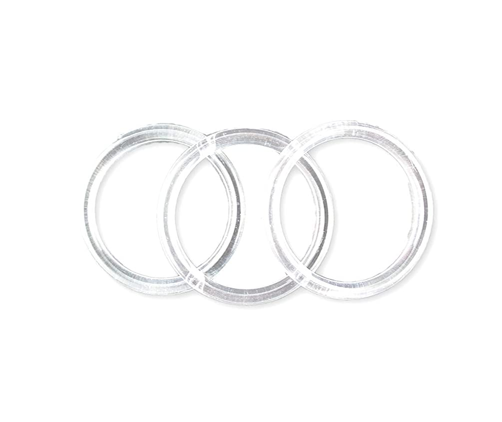 3 inch Clear Plastic Acrylic Rings 5/16 inch Thick 12 Pieces