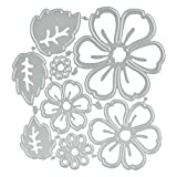 CODIRATO 8 PCS Flower Metal Cutting Dies 3D Flower Die Cuts Stencil Carbon Steel Die for Scrapbooking/Embossing/Photo Album Decor/DIY Craft/Gift