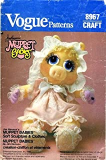 Vogue 8967 Vintage Sewing Pattern Jim Henson's Muppet Baby Miss Piggy