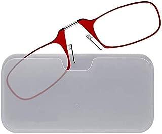 ThinOPTICS Stick Anywhere, Go Everywhere Reading Glasses, Red Frame, 2.00 Strength
