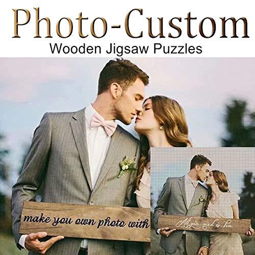 Louisleo Puzzle Personalizado 1000 Piezas con Tu Foto Adulto de Madera - Diseño Desde Cualquier Imagen Puzzles (120 - 1500 Piezas) Boda Inolvidable + Poster Original