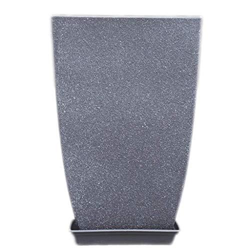 Pkfinrd Macetero colgante cuadrado de gran calibre imitación cemento estilo simple sala de estar balcón piso alta personalidad (color: gris oscuro)