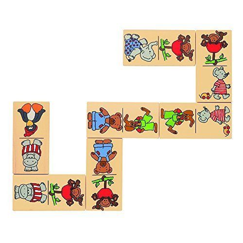 goki Animal Domino Game in Wooden Box by goki