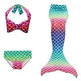 KESYOO Costume da Bagno per Sirena per Bambini Costume da Sirena Vestito da Nuoto Bikini S...