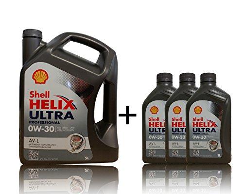 1x5 + 3x1 Shell 0W-30 Helix Ultra Professional AV-L - 5 liter 0W30 motorolie