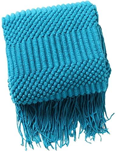 Coperta lavorata a maglia, leggera e confortevole, adatta per letto e divano(verde)