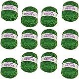 Hilo de Lana acrilica para Tejer Crochet Ganchillo o Punto Torrijo ESTIVE 100g, Ovillo de Lana Super Suave para Tejer | 12 unidades, COLOR 2207-VERDE