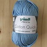 Gründl Cotton Quick Uni - Gomitolo di filato per lavoro a maglia, in cotone, 29 x 12 x 7 cm, colore: Blu cielo