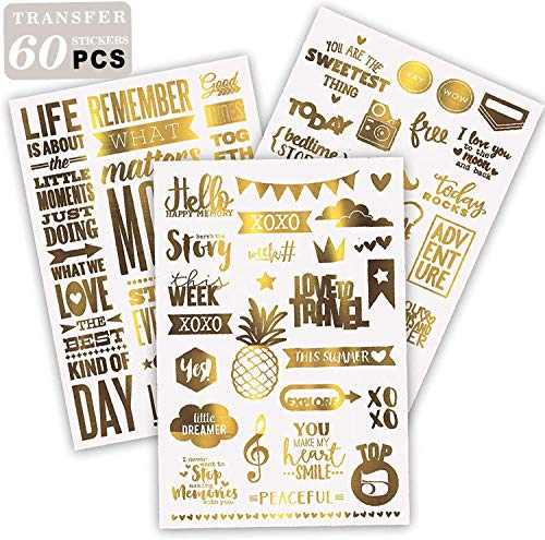Limited Edition| Gold Scrapbooking Stickers, Scrapbooking Supplies Kit, Love Stickers| Amazon Exclusive!