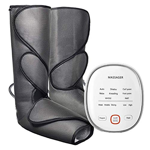 YLYHK Función de calefacción Ondas de Aire neumático masajeador 24W neumáticas Massager Pierna Circulation neumático con calefacción pies