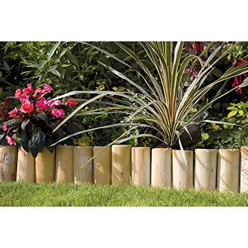 Garden Mile® Garten Rasenbegrenzung Bambus Kunststoff Holz Zaun Beeteinfassung Zierzaun Mähen Barriere Garten Trenner ordentliche Wege Auffahrt Gehweg Baum Teich Outdoor Dekor