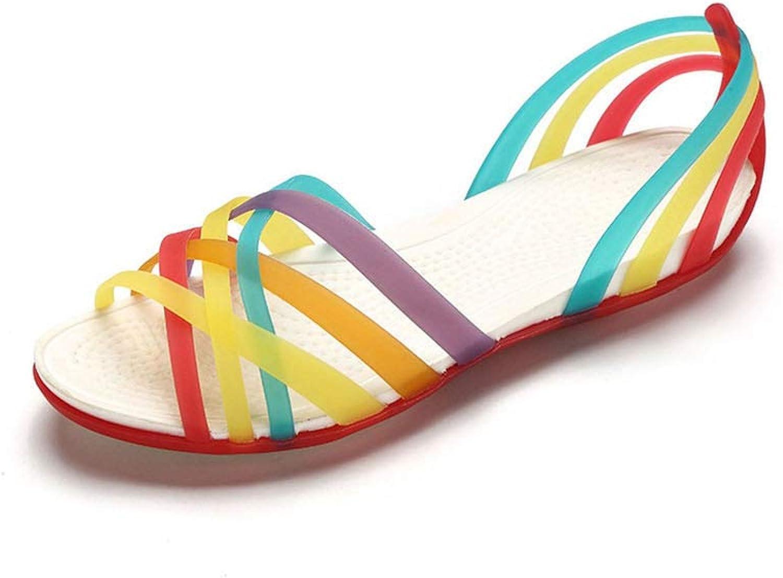 Fun-House Rainbow Jelly shoes Woman Wedges Sandalias Sandals Summer