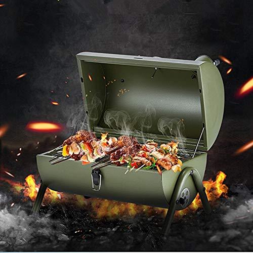 51lOHd70BgL. SL500  - Kunyun Tragbarer Outdoor-Grill, Terrasse, Camping, Picknick, Herd, Farbe: Rot, Größe: 42 x 29 x 37 cm