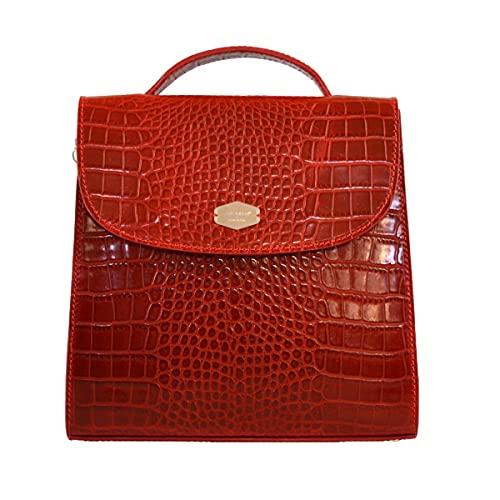 Constància Bags – Pochette A nima. Prodotto fatto a mano in Italia, vera pelle italiana. (Rossa)