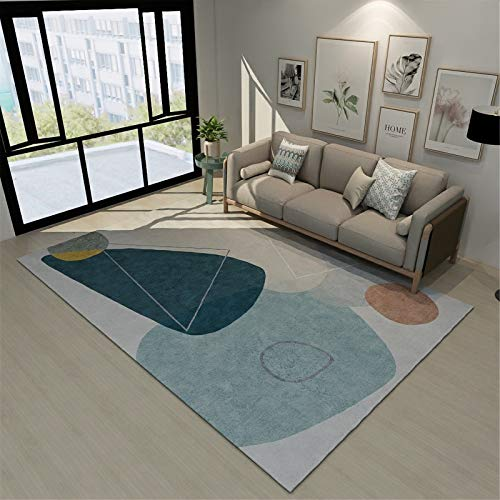 Mobiliario para El Hogar Alfombra Rectangular Grande De Estilo Europeo Simple Adecuada para Sala De Estar Dormitorio Manta De Noche 120x160cm