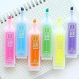 36 unids/lote Liner oblicuo color Resaltador Medio...