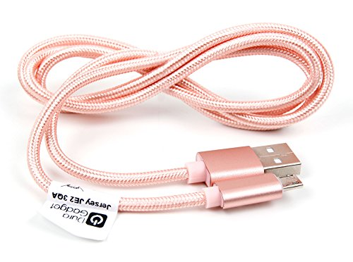 DURAGADGET Rose Gold Micro USB Data Sync Cable - Compatible with Fitbit Flyer