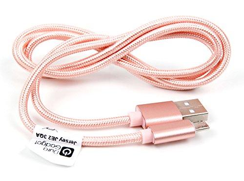 DURAGADGET Cable USB a Micro USB en Color Rosa para Carga y Transferencia de Datos para Porsche Design Book One/Qooq V3 / Takara MID210H, Takara MID210H16 / Teclast X98 Air III