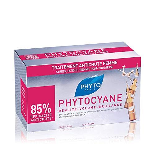Phyto Phytocyane Trattamento Anticaduta in Fiale, Ottimale per la Caduta Occasionale dei Capelli da Donna, Formato da 90 ml