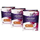 Always Discreet Incontinence and Postpartum Liners, Very Light Absorbency, Long Length, 132 Count, Packaging may vary