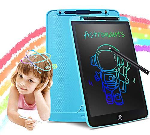 LUREOWEN Tableta de Escritura LCD, Tablero de Dibujo Electrónico de 12 Pulgadas-Tablet de con Botón de Bloqueo de Pantalla Borrable y Función Reutilizable para Pinturas Niños y Juguete Educativo