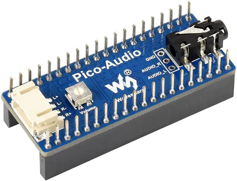Audio Expansion Module for Raspberry Pi Pico, Headphone and Speaker Signal Output at The Same Time, Wide Range Audio Sampling Rate