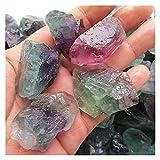Cristal áspero Especímenes ásperas de fluorita natural Colorido Fluorite Piedra de piedras preciosas Méter Modelo Crystal Reiki Healing Colección avanzada ( Color : Multi-Colored , Size : 2-4cm )
