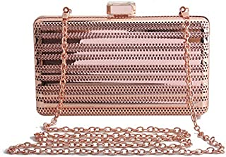 TOOGOO New Metal Hollow Women'S Shoulder Crossbody Bags Ladies Party Evening Bag Luxury Female Bags Cage Fashion Handbag Clutches Silver