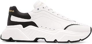 Luxury Fashion   Dolce E Gabbana Uomo CS1791AX58989697 Bianco Pelle Sneakers   Stagione Permanente