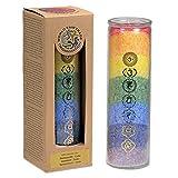 Echoppe de Gaia - Vela de 7 chakras con aceites esenciales, 100 h