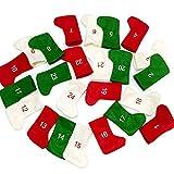 TUOLUO Medias De Navidad Calendarios De Adviento 24 Días Ca