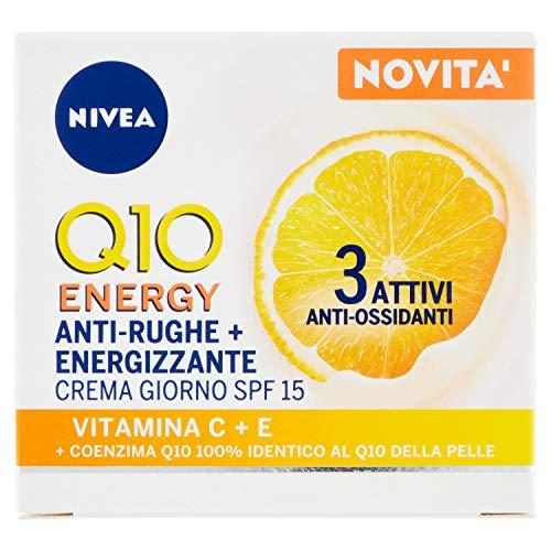 NIVEA Q10 PlusC Antirughe Energizzante Crema Giorno Viso SPF 15, 50 ml