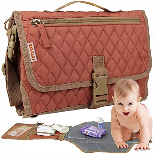 Cute Kid Portable Changing Pad | Diaper Clutch | Travel Changing Station |...