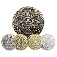 アメリカのマヤの記念コイン アステカの銅メダル マヤのコイン 記念コイン 収集、ゲーム、金属コイン、精神的な信頼、守備の自由に適しています