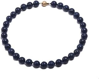 12mm Azure Blue Round Lapis Lazuli Beads Necklace Gemstones of Buddhism 17''