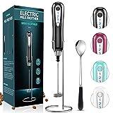 HAPAW Espumador eléctrico de Mano, USB recargable batidor eléctrico, Batidor de Leche de Acero Inoxidable para café, café con Leche, Latte y Cappuccino